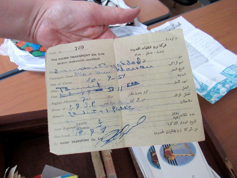 Iraqi Nairn Transport Co. Ltd old paper ticket
