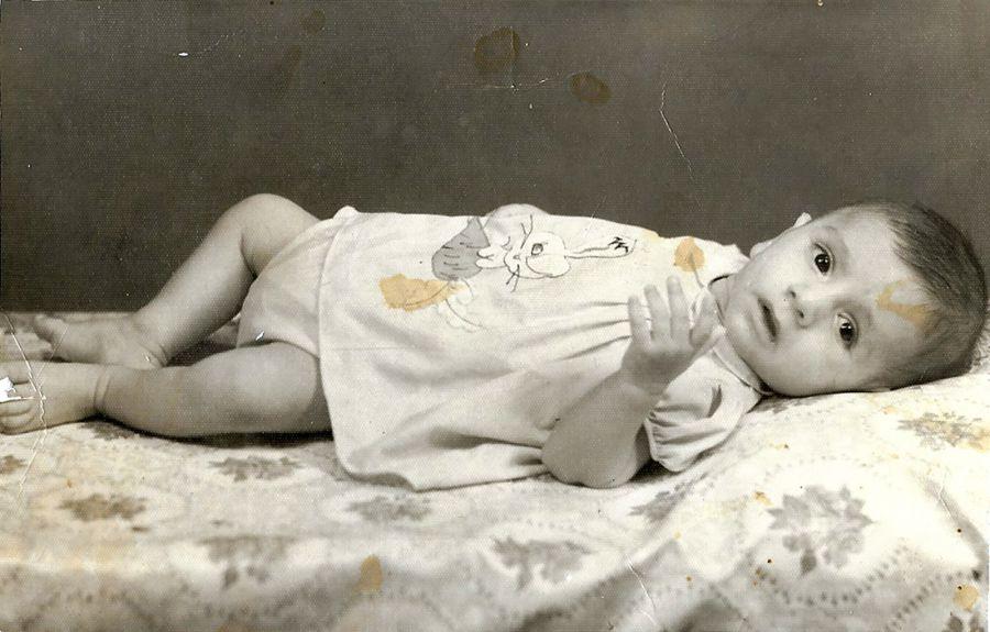 Archival baby photo