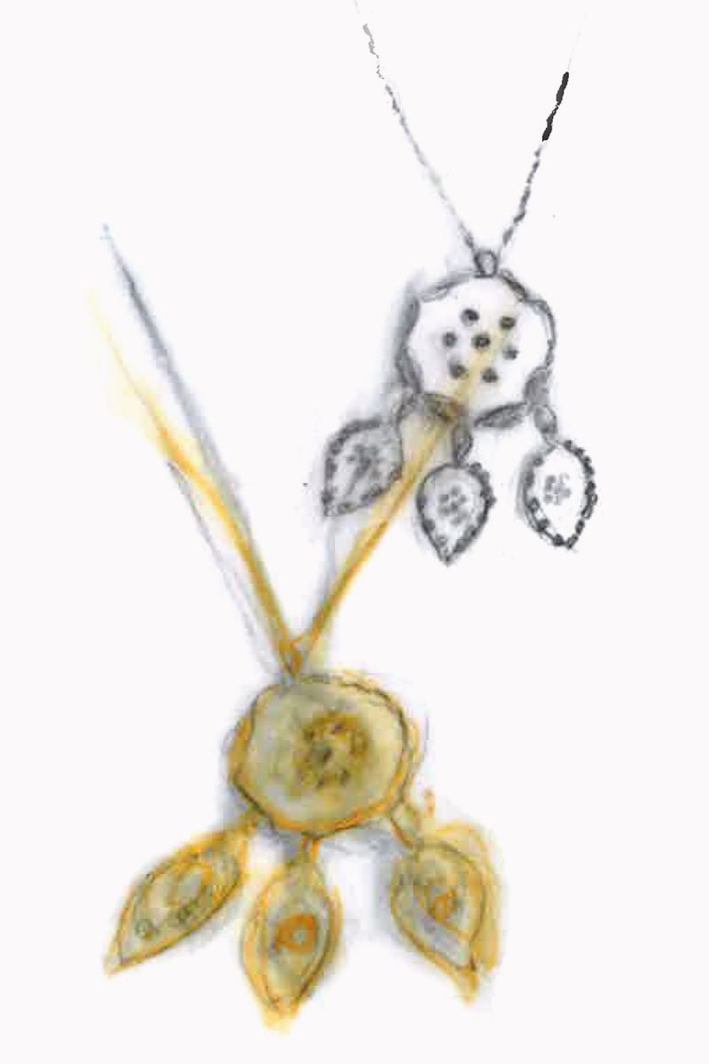 Drawings of a necklace