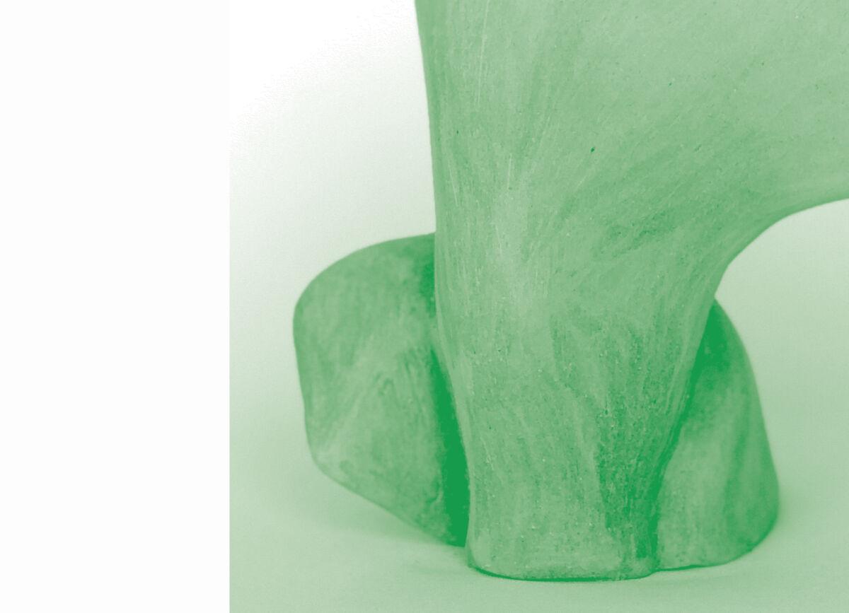 duotone detail of sculptural form